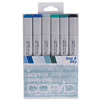Copic Marker Set 6pk Sea & Sky