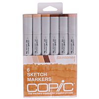 Copic Marker Set 6pk Skin Tones