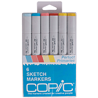 Copic Marker Set 6pk Primary Colours