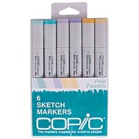 Copic Marker Set 6pk Pale Pastels