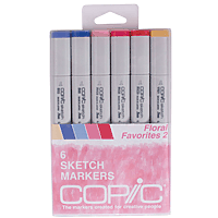 Copic Marker Set 6pk Floral Favourites 2