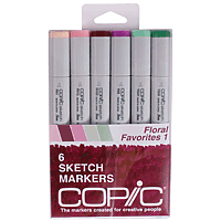 Copic Marker Set 6pk Floral Favourites 1