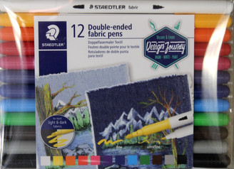 Staedtler Fabric Markers 12pk 2ends