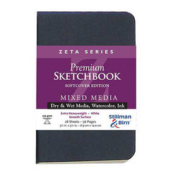 Stillman&Birn Zeta Mix-Media Sketch 180lb 3.5x5.5 26sheets
