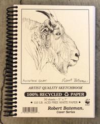 Robert Bateman Sketchbook Coil 5x7 110lb paper
