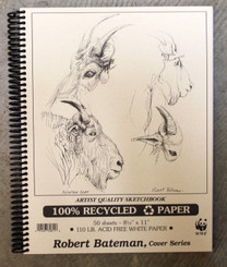 Robert Bateman Sketchbook Coil 8.5x11 110lb