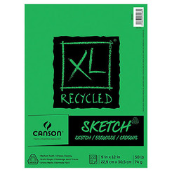 Canson XL Recycled Coil Sketchbook 9x12 100pg