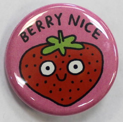 "Button Pin 1.25"" Berry Nice"