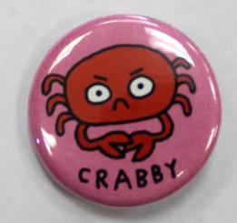 "Button Pin 1.25"" Crabby"