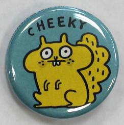 "Button Pin 1.25"" Cheeky"
