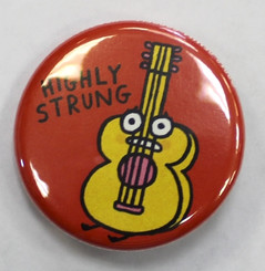 "Button Pin 1.25"" Highly Strung"