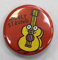 "Button Pin 1.25"" Highly Strung"