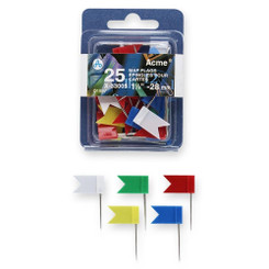 Acme Map Flags 25pk