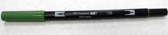 Tombow Double Ended Marker Brush & Fine 158 Dark Olive