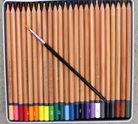 Bruynzeel Watercolour Pencils Tin Set 24pk with Brush