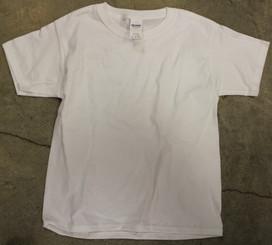 Gildan 100% Cotton T-shirt White Adult Small