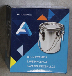 AA Metal Brush Washer Tin with Clamping Lid 8oz