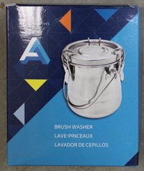 AA Metal Brush Washer Tin with Clamping Lid 16oz