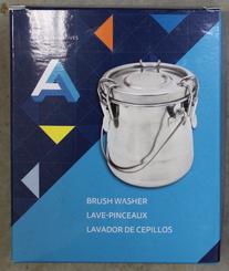 AA Metal Brush Washer Tin with Clamping Lid 16oz