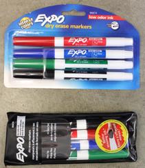 Expo Dry Erase Markers 4pk Basic