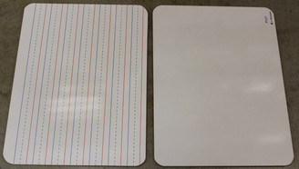 CLEARANCE! Dry Erase White Board 9x12 Double Sided Lined / Blank #483