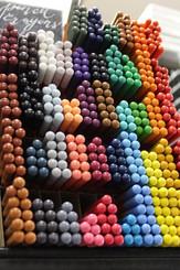 Bryunzeel Artist's Pencil Crayon EACH Candy Pink