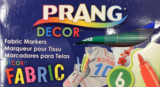 Prang Fabric Markers 6pk Pointed Tip (about 2 to 4mm line)