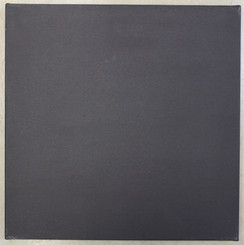 """Black Canvas Stretched 1.5"""" Profile back-staple 30x30"""