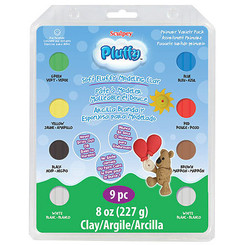 Sculpey Pluffy Oven Bake Clay 6pk Primaries