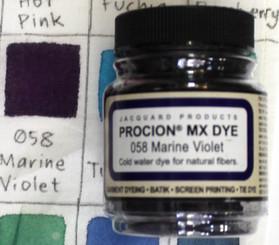Jacquard Procion MX Cold Water Natural Fiber Dye #058 Marine Violet
