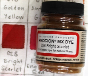 Jacquard Procion MX Cold Water Natural Fiber Dye #028 Bright Scarlet