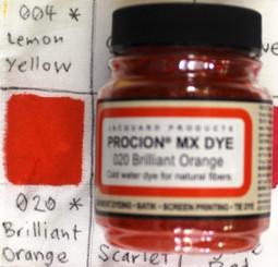 Jacquard Procion MX Cold Water Natural Fiber Dye #020 Brilliant Orange
