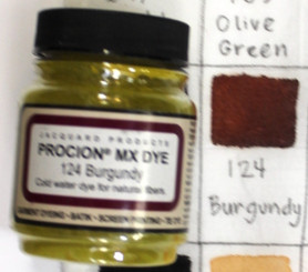 Jacquard Procion MX Cold Water Natural Fiber Dye #124 Burgundy