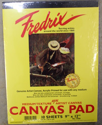 Fredrix Real Canvas Pad 10 sheets Primed Canvas 9x12