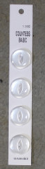 "Countess Basic Buttons 4pk White 3/4"" #30"