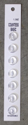 "Countess Basic Buttons 7pk White 7/16"" #18"