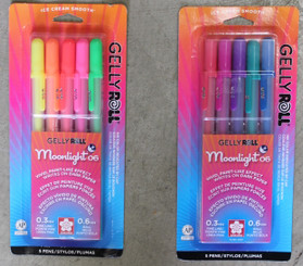 Gelly Roll Moonlight Gel Pens #06 (.3mm line) 5pk Dawn