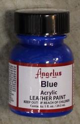 Angelus Leather Paint 1oz Bottle with Brush Blue