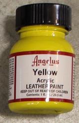 Angelus Leather Paint 1oz Bottle with Brush Yellow