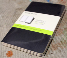 Moleskine 3pk 3x5 Soft Cover Plain Pages Black Cover