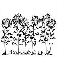 Stencil 12x12 Sunflower Meadow