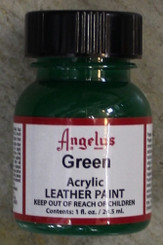 Angelus Leather Paint 1oz Bottle with Brush Green