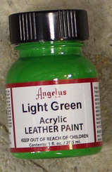 Angelus Leather Paint 1oz Bottle with Brush Light Green