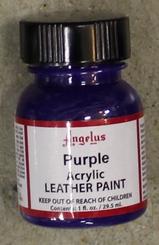 Angelus Leather Paint 1oz Bottle with Brush Purple
