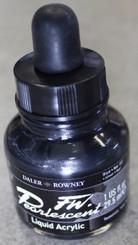 Daler Rowney FW Acrylic Ink 1oz bottle Pearlescent Pearl Black