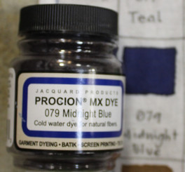 Jacquard Procion MX Cold Water Natural Fiber Dye #079 Midnight Blue