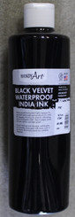 Black Velvet India Ink 16oz Water-Proof