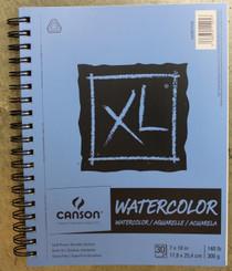 Canson Watercolour Pad XL 140lb 30pg Coil 7x10