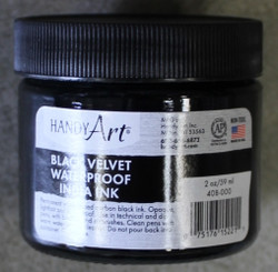 Black Velvet Waterproof India Ink Black 2oz / 59ml