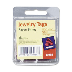 Avery Jewellery Tags 100pk with string